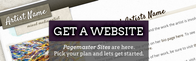 PageMaster Sites for artists and authors