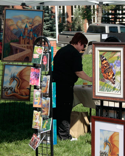 Artist Gail Seemann at Art Walk 2011.
