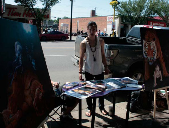 Levi Etherington at Art Walk 2011