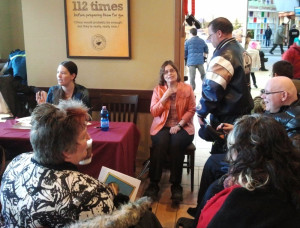 Author Sheree McKewen and illustrator Jennifer Ortlieb at initial book launch