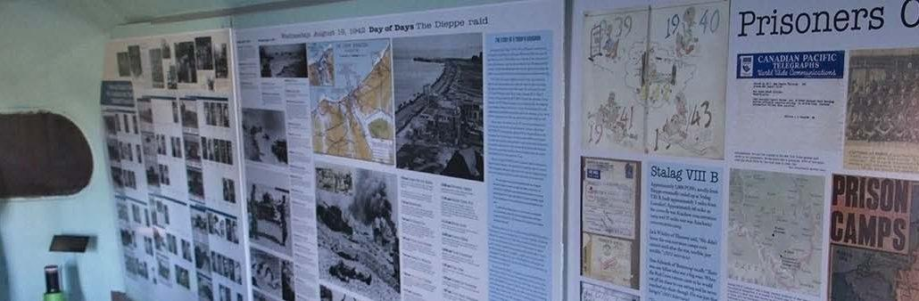 Remembering Dieppe display wall