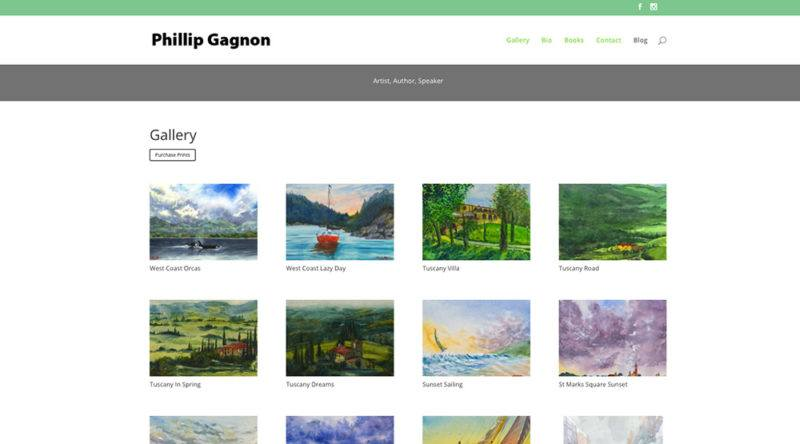 artist one page site