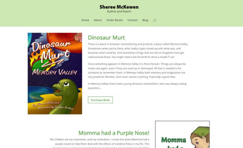 one page author site