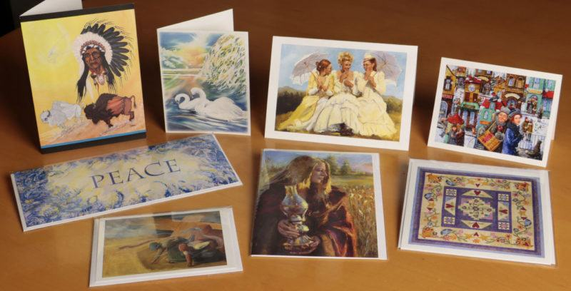 folding art and note card prints for publication