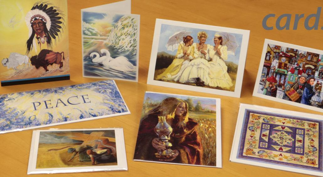 Art and note cards in standard sizes