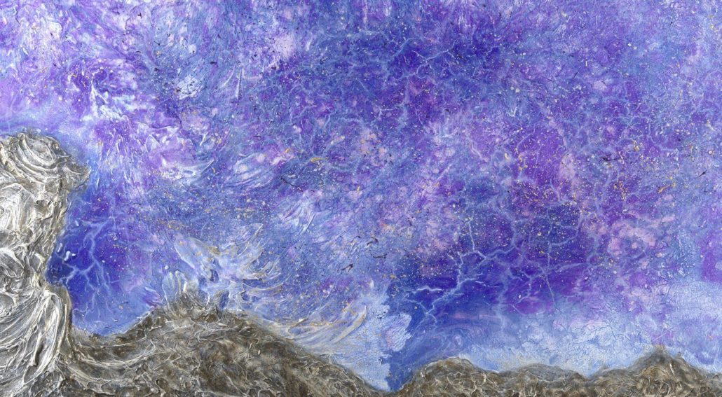 Seeking, part of the Recovering the AWE series by Alberta artist Lori Anne Youngman