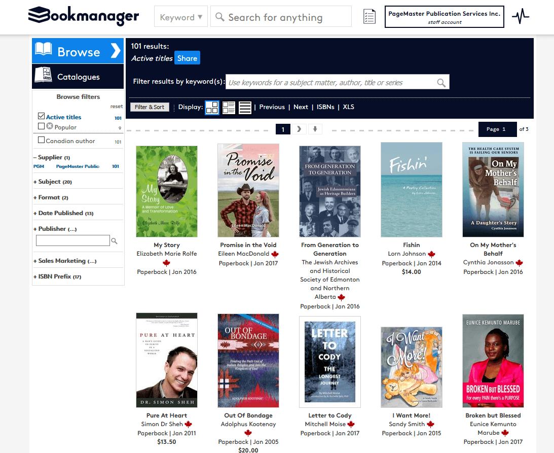 PageMaster on PubStock listings