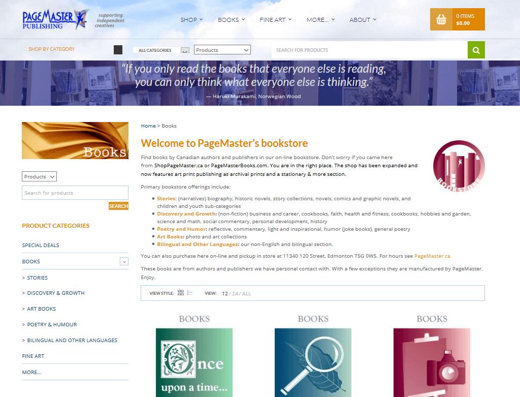 PageMaster Publishing online books distribution