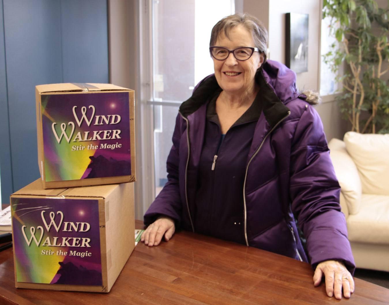 Eveline Poulin-Kaybidge with Wind Walker: stir the magic