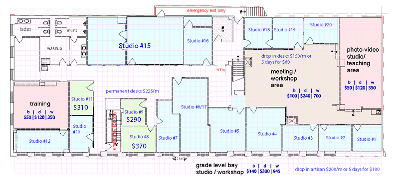 Edmonton studio rental floor plan