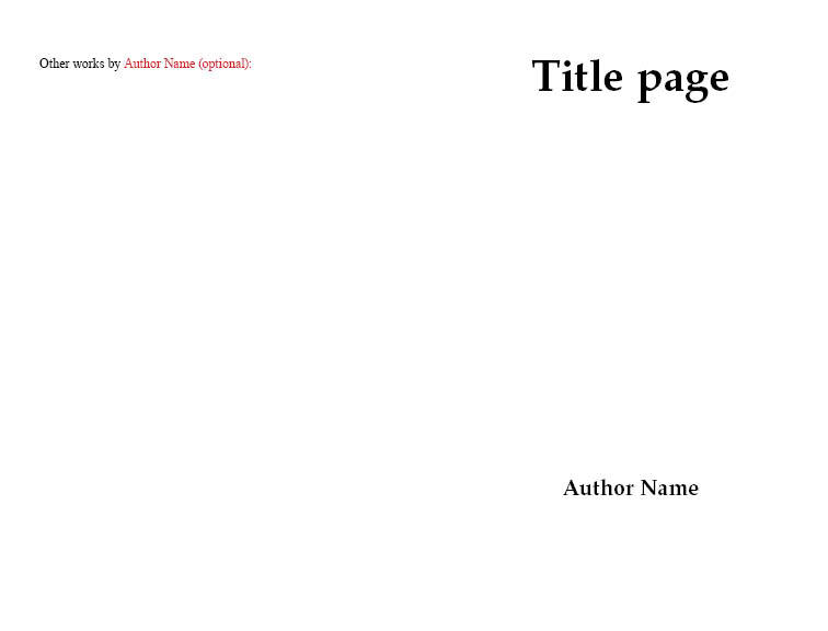 Front Matter, Title Page