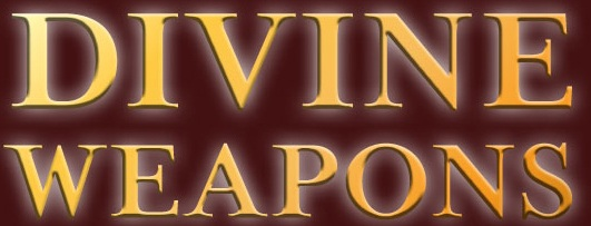 Divine Weapons by Evelyn B. Morris Front Cover Banner