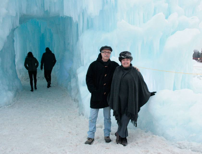 PageMaster owner Dale Youngman with Lori at the Ice Castle in February 2016. PageMaster is closed on the Family Day stat,