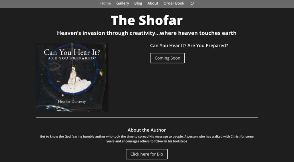 screenshot of theshofar.ca by heather dunaway