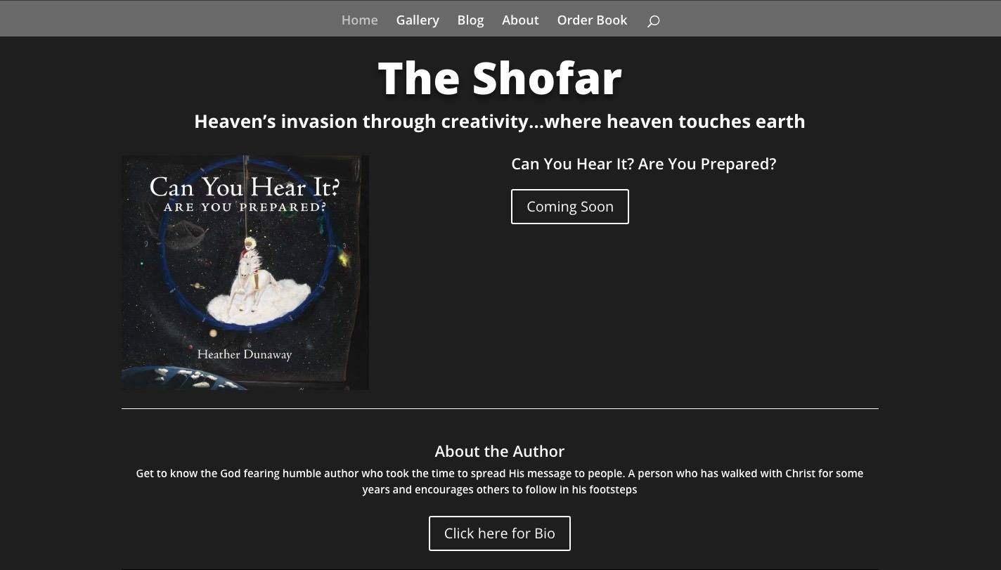 image of home page theshofar.ca website by Heather Dunaway