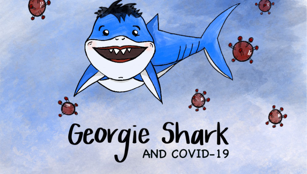 front cover of georgie shark and covid-19 by stephanie liu